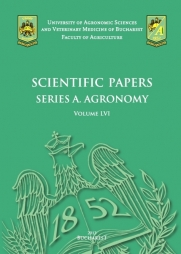 Scientific Papers. Series A. Agronomy